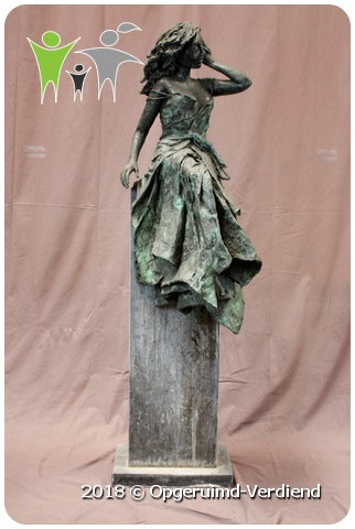 Super Bronzen Beeld / Summertime (Marianne Houtkamp) op Zuil » Umecom B.V. #LE68