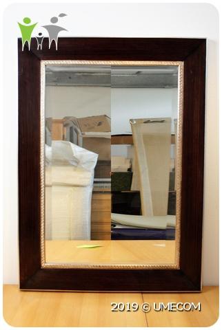 Betere Grote (115 cm) Spiegel / Brede Lijst (Hout - Zilver) » Umecom B.V. ZM-93